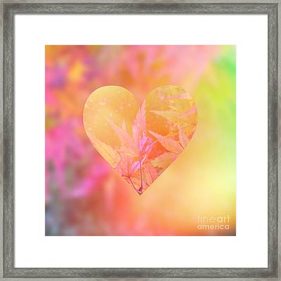 Abstract Maple Leaf Magic 4 Framed Print by Beverly Claire Kaiya