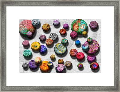 Abstract - Marbles Framed Print by Mike Savad
