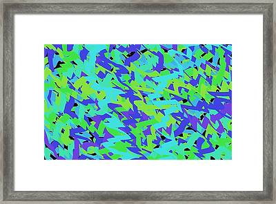 Abstract Mess Reversed Framed Print by Chris Gudger