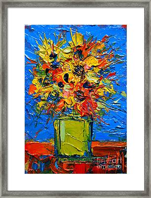Abstract Miniature Bouquet Framed Print by Mona Edulesco
