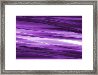 Abstract Modern Purple  Background Framed Print by Somkiet Chanumporn