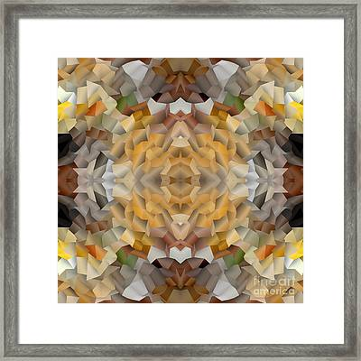 Abstract Mosaic In Earthy Tones Framed Print by Beverly Claire Kaiya