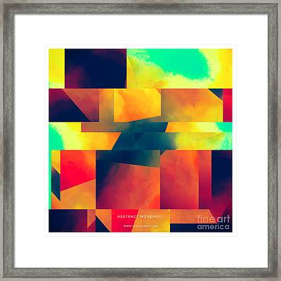 Abstract Movement Framed Print by Lonnie Christopher