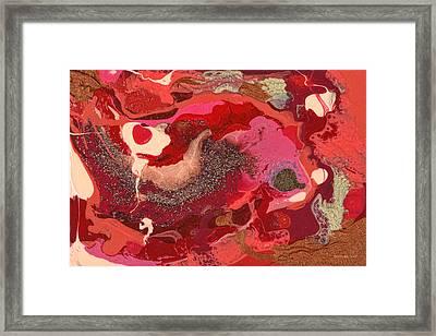 Abstract - Nail Polish - Love Framed Print by Mike Savad