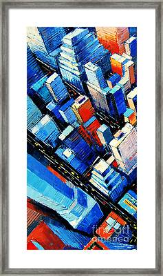 Abstract New York Sky View Framed Print by Mona Edulesco