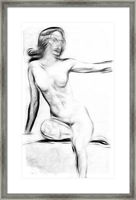 Abstract Nude 2 Framed Print by Stefan Kuhn