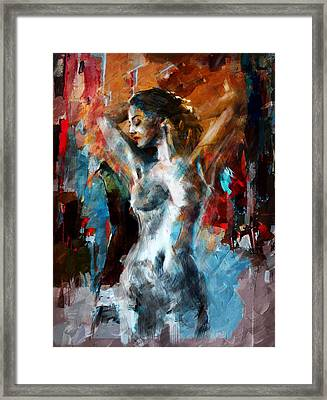 Abstract Nude 3b Framed Print by Mahnoor Shah