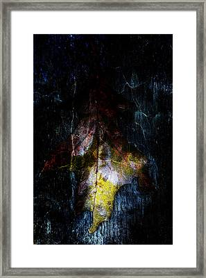 Abstract Oak Leaves Framed Print by Toppart Sweden