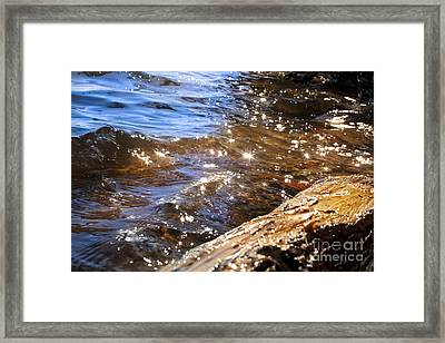 Abstract Of A Lake Shore Framed Print by Jonathan Welch