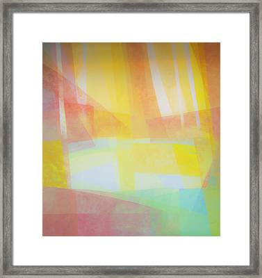 Abstract Of Pastel Colors Framed Print by Sheila Haddad