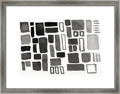 Abstract Open Windows Framed Print by Linda Woods