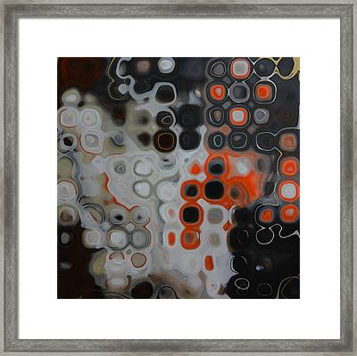 Abstract Orange Digital Print Framed Print by Andrada Anghel