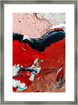 Abstract Original Artwork One Hundred Phoenixes Untitled Number Four Framed Print by Maria  Lankina