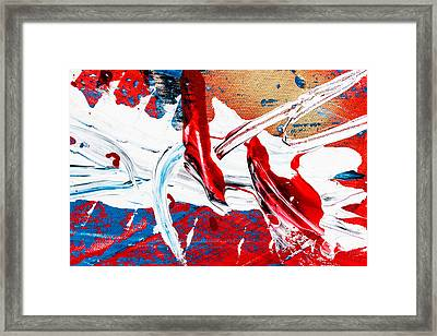Abstract Original Artwork One Hundred Phoenixes Untitled Number Two Framed Print by Maria  Lankina
