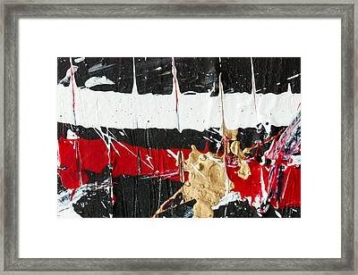 Abstract Original Painting Number Five Framed Print by Maria  Lankina