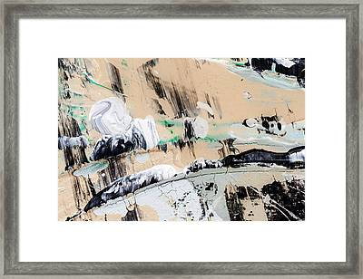 Abstract Original Painting Number Seven  Framed Print by Maria  Lankina