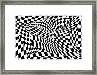 Abstract - Ow My Eyes Framed Print by Mike Savad