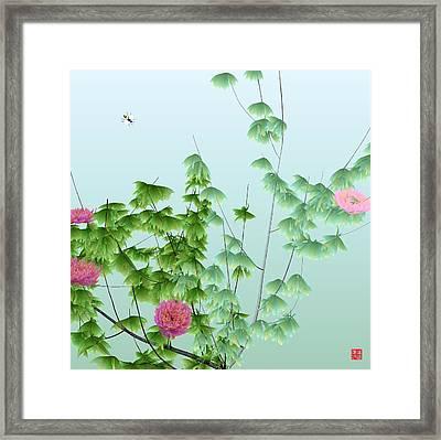 Abstract Peony Wasp Framed Print by GuoJun Pan