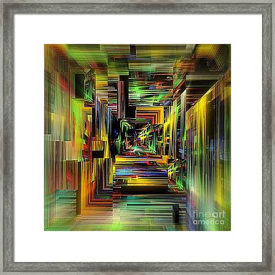 Abstract Perspective E3 Framed Print by Greg Moores