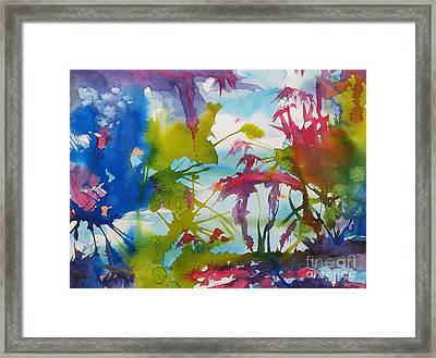 Abstract -  Primordial Life Framed Print by Ellen Levinson