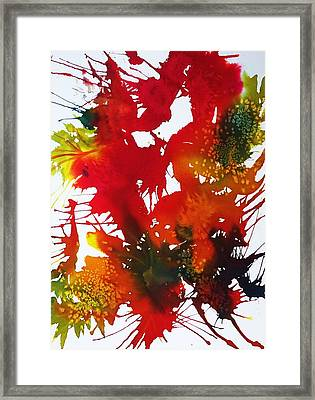 Abstract - Riot Of Fall Color II - Autumn Framed Print by Ellen Levinson