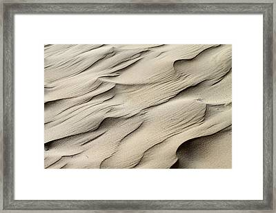 Abstract Sand 7 Framed Print by Arie Arik Chen