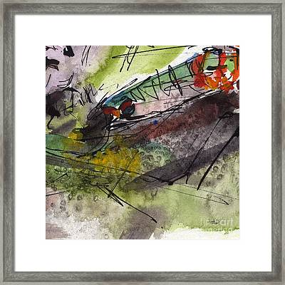 Abstract Screams Of A Dying Fish  Framed Print by Ginette Callaway