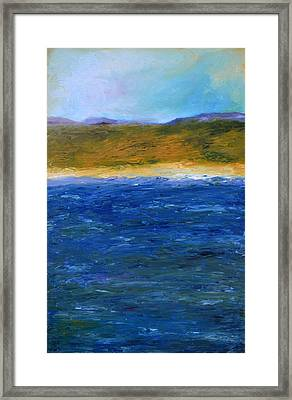 Abstract Shoreline Framed Print by Michelle Calkins