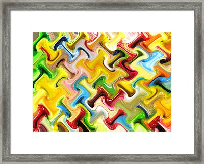 Abstract  Six  Of  Twenty  One Framed Print by Carl Deaville