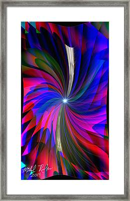 Abstract - Spinner Framed Print by Michael Rucker