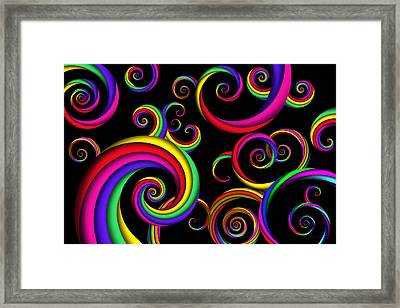 Abstract - Spirals - Inside A Clown Framed Print by Mike Savad