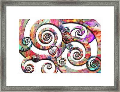 Abstract - Spirals - Wonderland Framed Print by Mike Savad