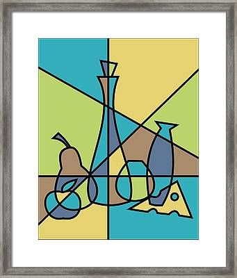 Abstract Still Life Framed Print by Donna Mibus