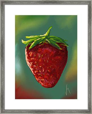 Abstract Strawberry Framed Print by Veronica Minozzi