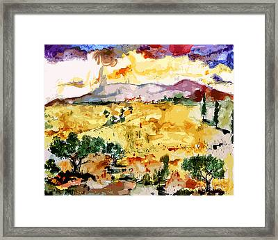 Abstract Summer Landscape Framed Print by Ginette Callaway