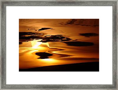Abstract Sunrise Framed Print by Jeff Swan
