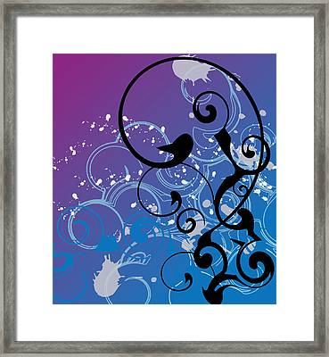 Abstract Swirl Framed Print by Mellisa Ward