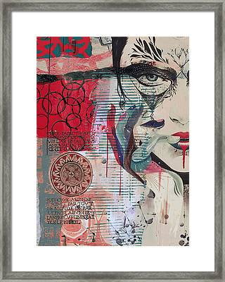 Abstract Tarot Card 008 Framed Print by Corporate Art Task Force