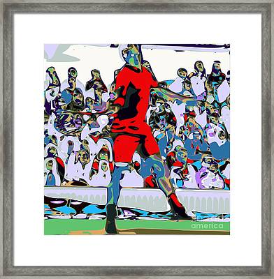 Abstract Tennis Framed Print by Chris Butler