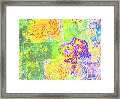 Abstract The Colors Of Time And Place Framed Print by Regina Kyle