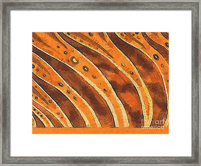 Abstract Tiger Stripes Framed Print by Pixel Chimp
