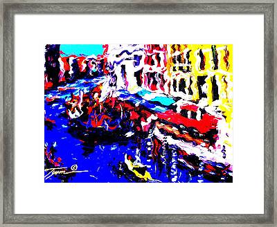 Abstract Venice Framed Print by Jonathan Tyson