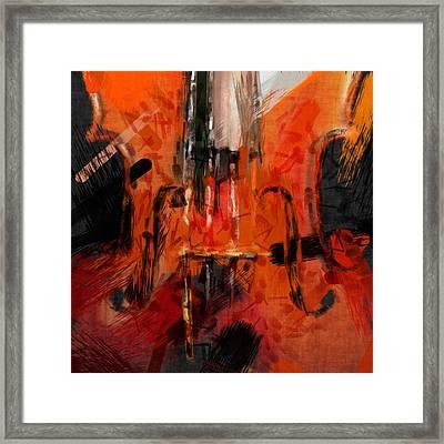 Abstract Violin Framed Print by David G Paul