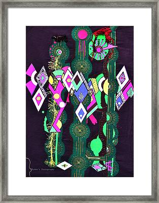 Abstract Warriors Framed Print by Ruth Yvonne Ash