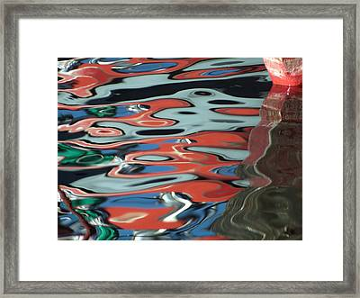 Abstract Water Reflection 67 Framed Print by Andrew  Hewett