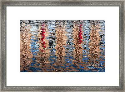 Abstract Water Ripples  Framed Print by Tim Gainey