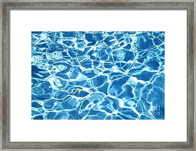 Abstract Water Framed Print by Tony Cordoza