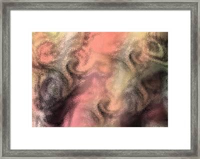 Abstract Watercolor And Ink Digital Painting Framed Print by Georgeta Blanaru
