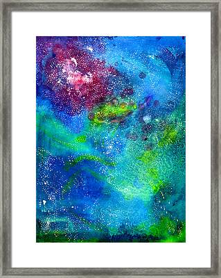 Abstract Watercolor Texture II Framed Print by Jennifer Pavia