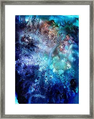 Abstract Watercolor Texture Iv Framed Print by Jennifer Pavia
